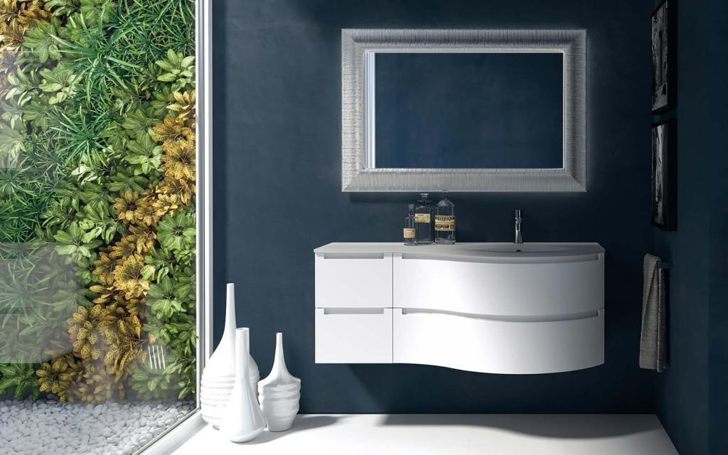 Berloni memphis mobile da bagno 33 bianco opaco 140 cm   bagnolandia