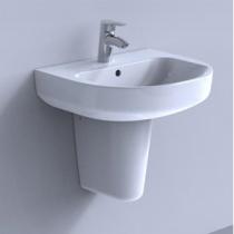 Colonna per lavabo sospeso Cristallo