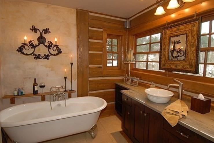 Vasca stile rustico per bagno in legno