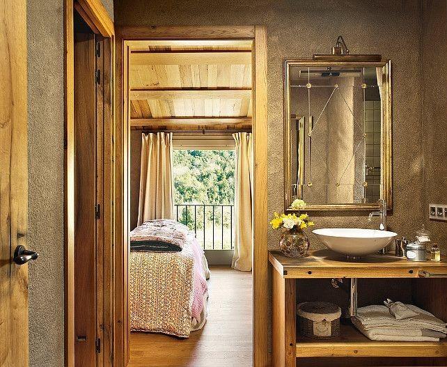Bagni in legno moderni e rustici bagnolandia - Mobile bagno rustico ...