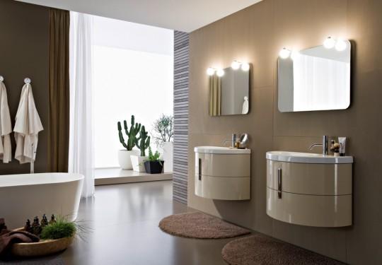 Come arredare un bagno piccolo medio grande - Lavabi doppi per bagno ...
