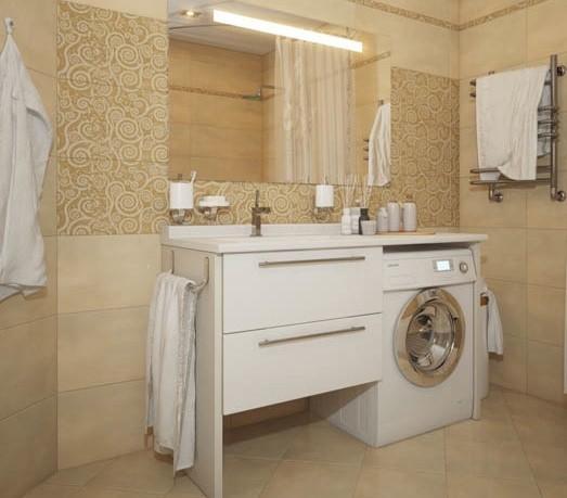 Bagno con mosaico viola for Mobili salvaspazio bagno