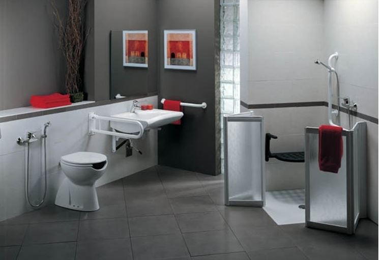 Bagno per disabili misure design casa creativa e mobili for Misure mobili bagno