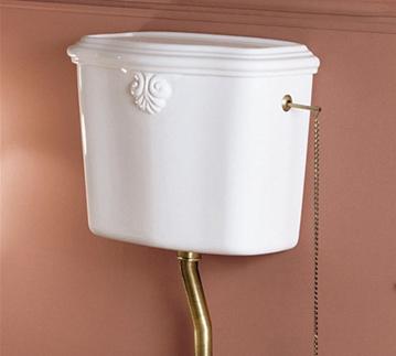 Arredare il bagno in stile vittoriano bagnolandia - Cassetta scarico wc esterna montaggio ...