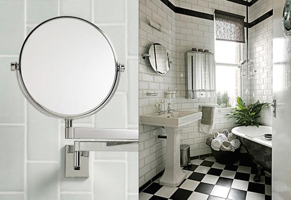 Arredare il bagno in stile vittoriano bagnolandia for Piastrelle cucina bianche e nere