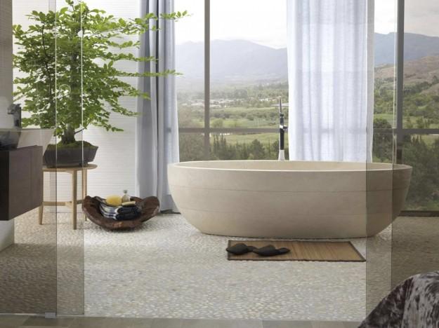 collocazione di una pianta nella sala da bagno