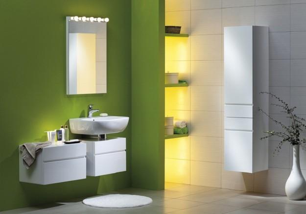 dipingere il bagno di colore verde