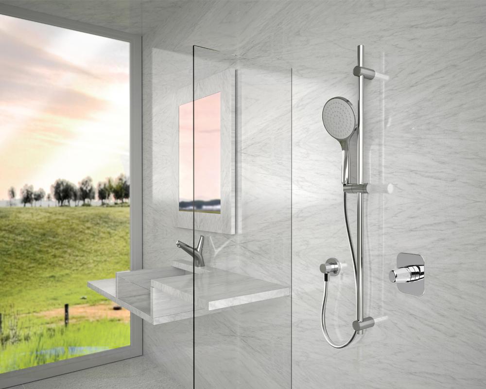 Come montare o sostituire un saliscendi doccia bagnolandia - Soffione della doccia ...