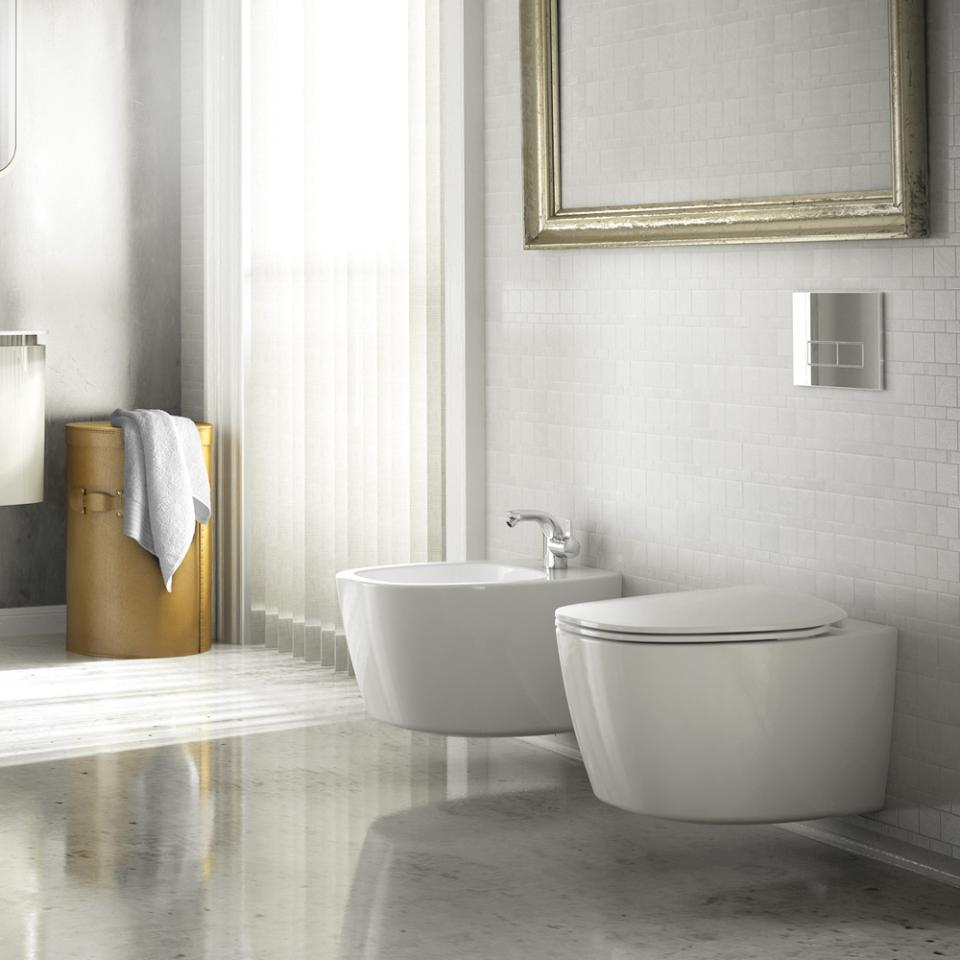 Come montare i sanitari sospesi del bagno bagnolandia - Come sbiancare i sanitari del bagno ...