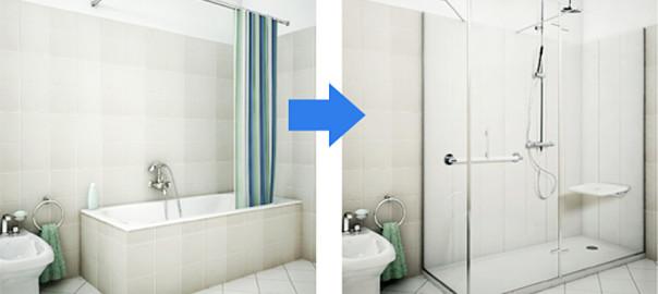 Come trasformare la vasca in doccia bagnolandia - Trasformare vasca da bagno in doccia ...
