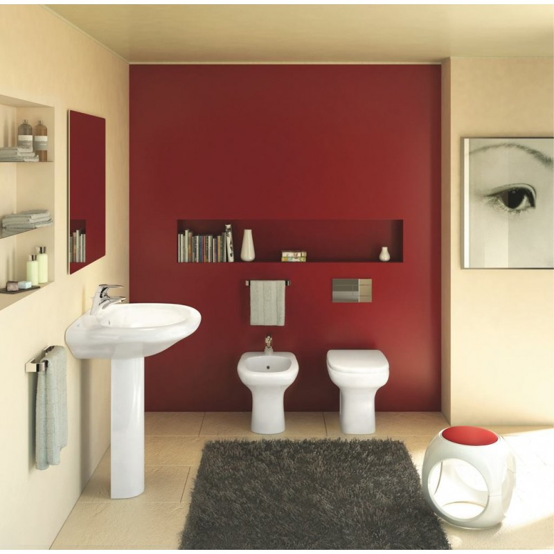 Ideal standard serie tesi classic wc scarico senza sedile - Posizione sanitari bagno ...