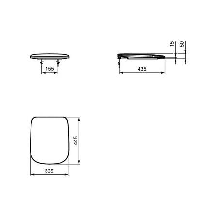 Ideal Standard Esedra Sedile Copriwater Slim Per Wc Bagnolandia