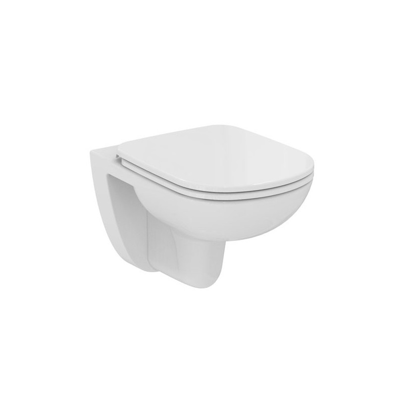 Ideal standard gemma 2 wc sospeso senza sedile 53x36 for Lunette wc ideal standard