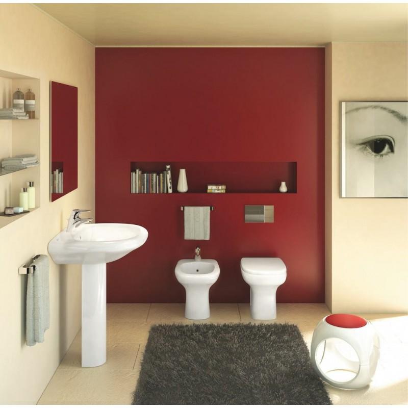 IDEAL STANDARD Tesi Classic wc sospeso scarico a parete senza sedile ...