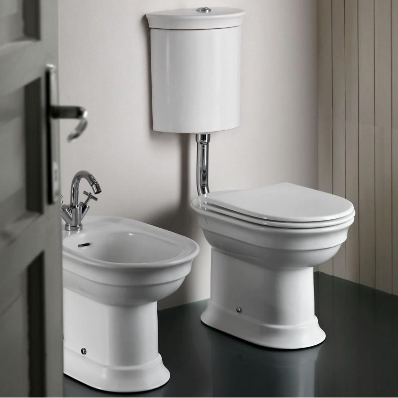 Hatria cassetta wc attacco basso dolcevita doppio scarico - Posizione sanitari bagno ...