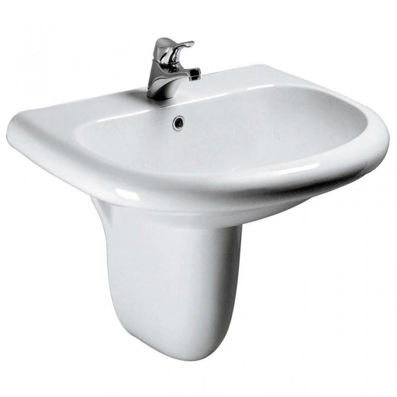 Ideal standard tesi classic lavabo bacino ampio bagnolandia - Lavabo con colonna ...