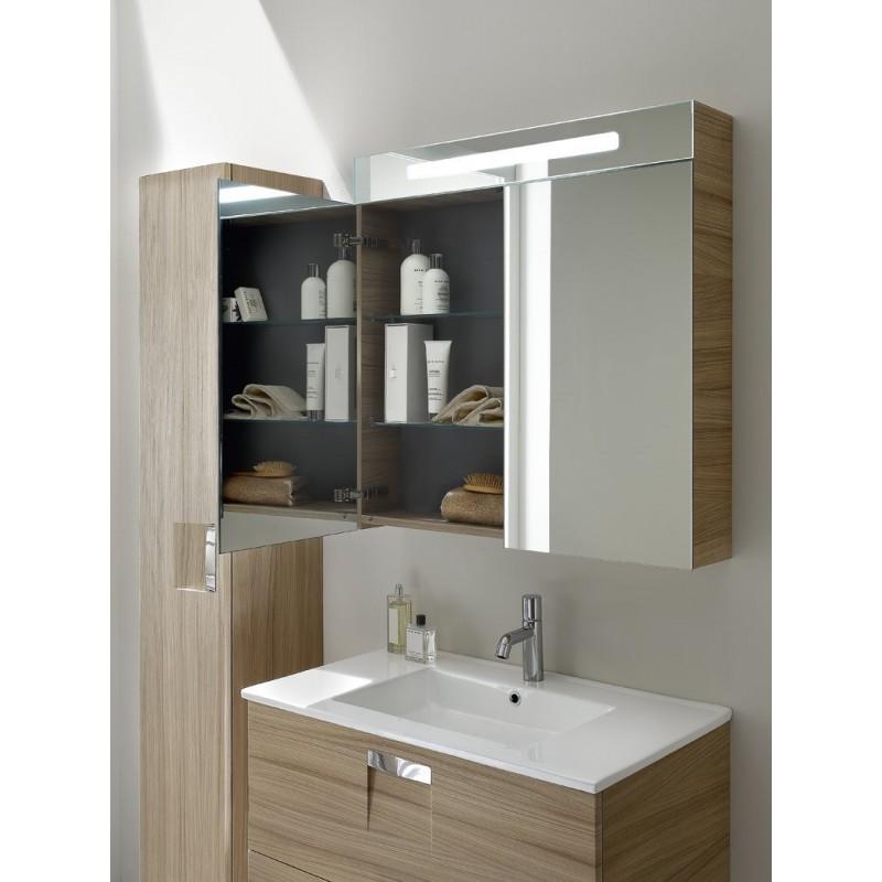 Inda look mobile da bagno con specchiera e pensile - Mercatone uno specchi bagno ...