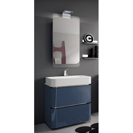 Ardeco acacia mobile per bagno 47 laccato lucido indaco bagnolandia - Mobile bagno laccato ...