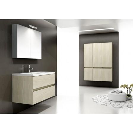 IDEA STELLA Libra monoblocco 90.060 legno frassino tranchè da bagno ...