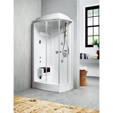 Glass techno 110 72 cabina doccia multifunzione bagnolandia - Cabina doccia esterna ...