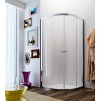GLASS Apta AY box semicircolare per doccia