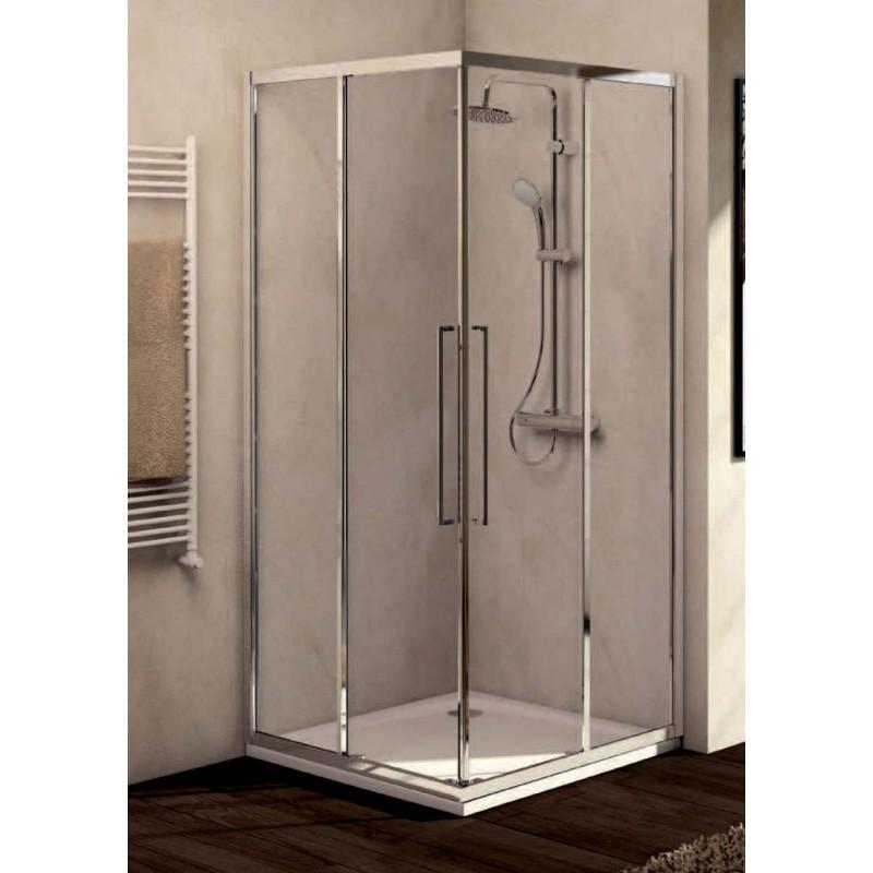 Ideal standard kubo a porta scorrevole per cabina doccia ad angolo bagnolandia - Porta scorrevole per doccia ...