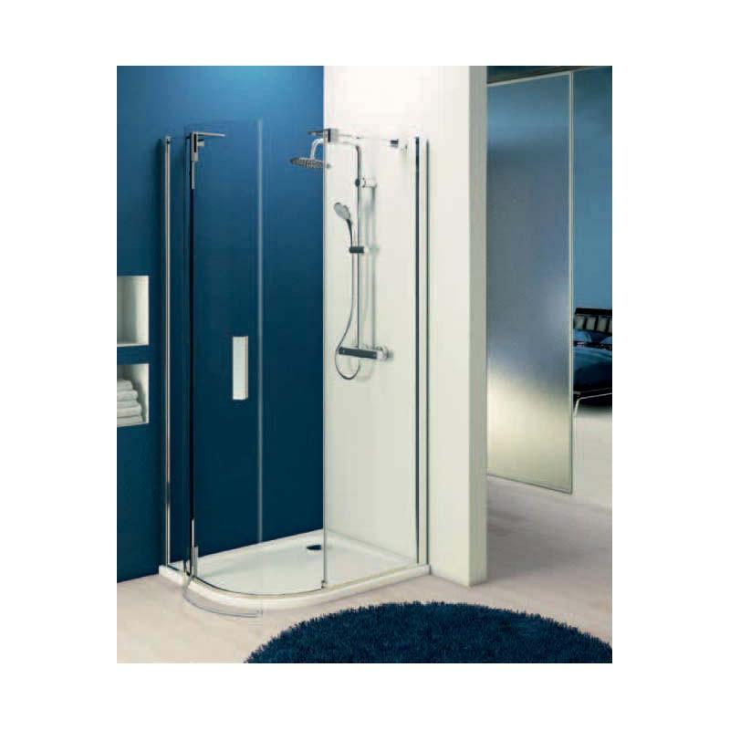 Ideal standard tonic r cabina doccia ad angolo curvo - Cabina doccia esterna ...