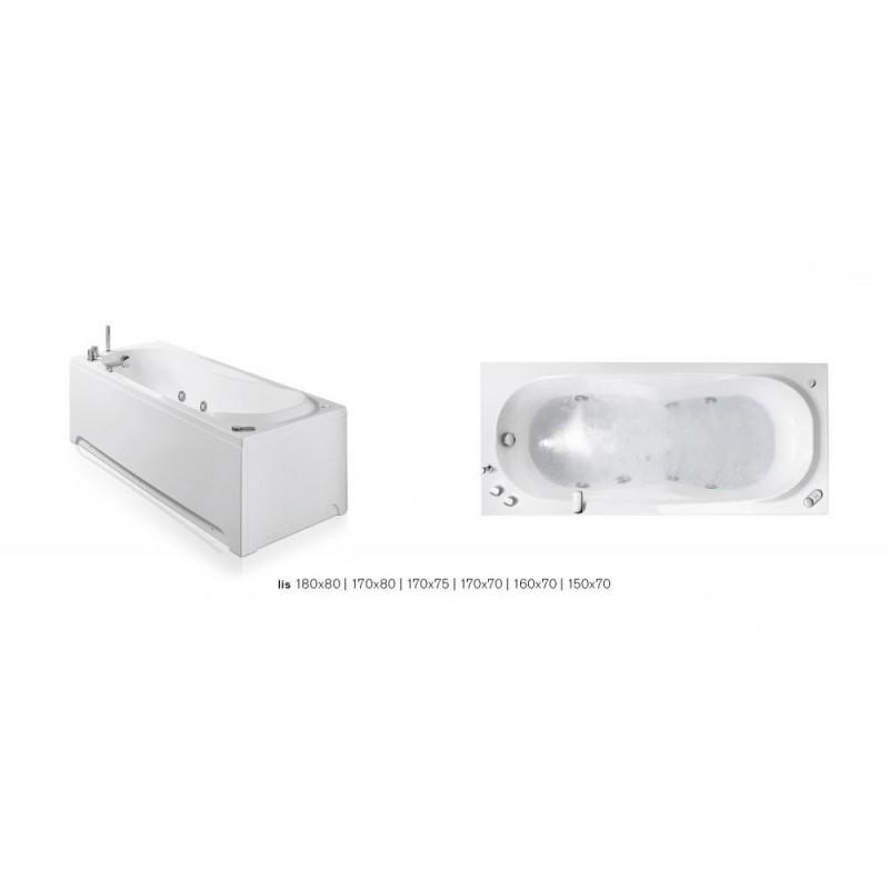 Glass lis vasca idromassaggio 170x70 rettangolare bagnolandia - Glass vasche da bagno ...