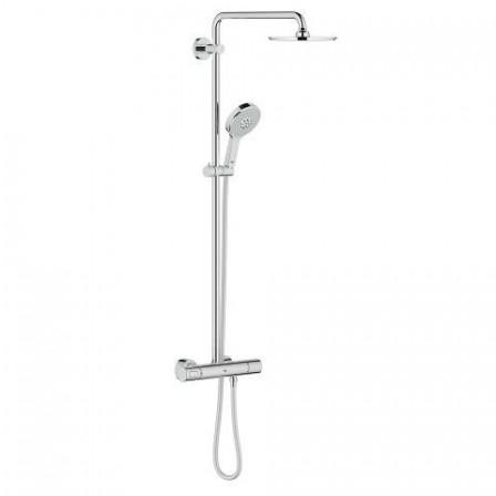 grohe rainshower system 210 doccia con termostatico bagnolandia. Black Bedroom Furniture Sets. Home Design Ideas