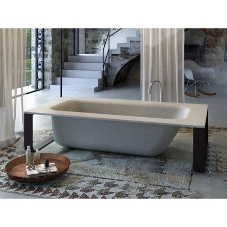 Glass concrete bath vasca con piletta e struttura bagnolandia - Glass vasche da bagno ...