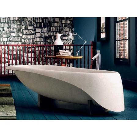 Glass concrete soft vasca con piletta e struttura abbinabile bagnolandia - Bagno da gigi cecina ...