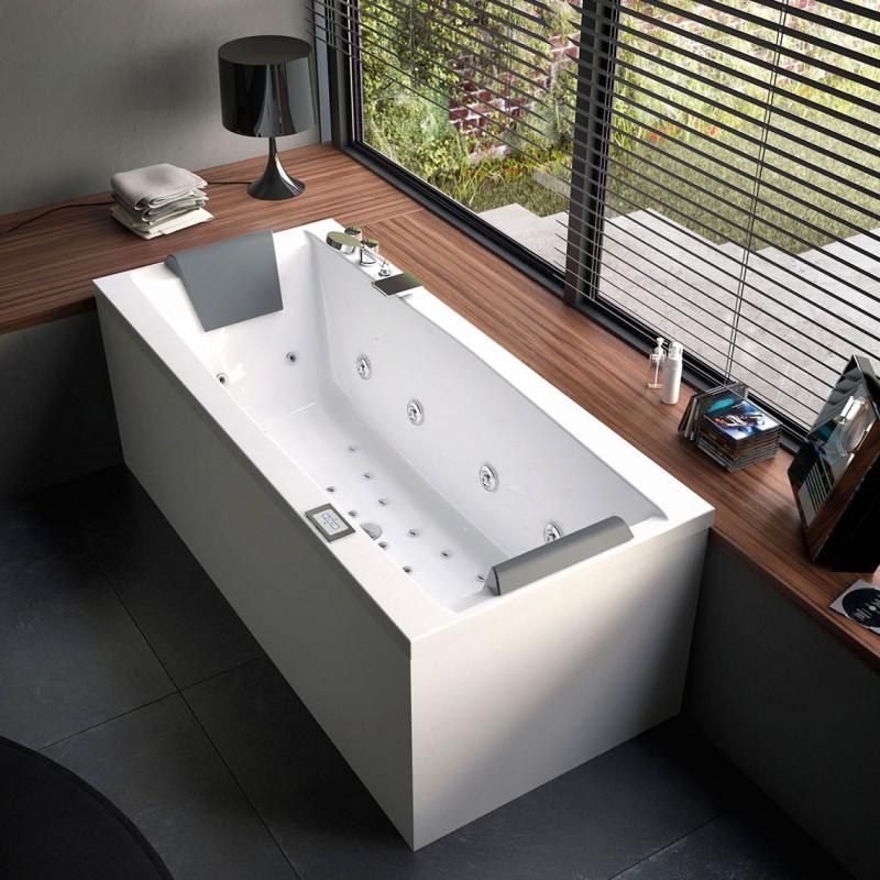 Glass eden vasca da incasso senza idromassaggio bagnolandia for Vasca da bagno esterna