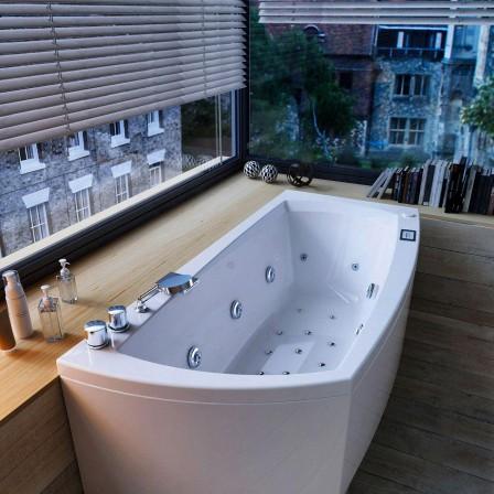 Glass linea vasca da incasso con sistema idromassaggio bagnolandia - Vasca da bagno incasso prezzi ...