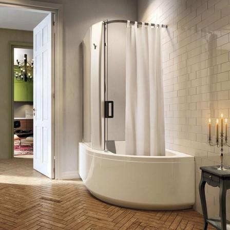 Glass pop up 160 sistema combinato vasca doccia bagnolandia - Box doccia per vasche da bagno ...