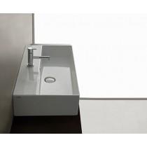 GLOBO T-Edge lavabo sospeso o da appoggio con fissaggi