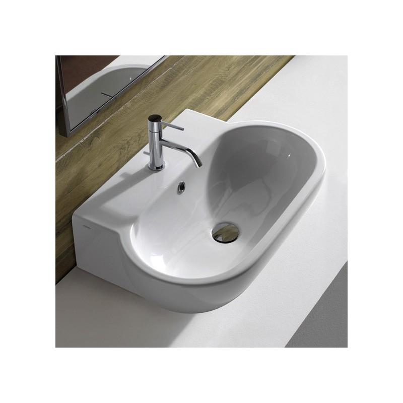 Globo bowl lavabo da appoggio bagnolandia for Lavabo da appoggio misure