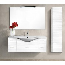 LASA Vanity composizione 11 nobilitato Larice bianco