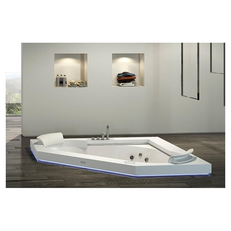 Vasca idromassaggio ad angolo jacuzzi 160x60 bagnolandia - Bagno con vasca ad angolo ...