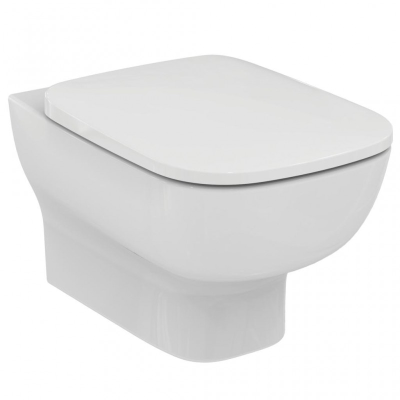 Wc sospeso ideal standard esedra con copriwater slim for Copriwater ideal standard esedra