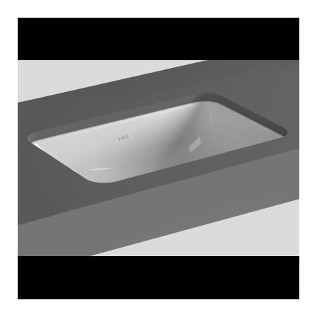 Lavabo ad incasso sottopiano senza foro Vitra S20 - Bagnolandia