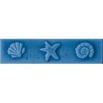 listello conchiglie pitrizza azzurro mare 5x20