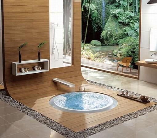 Bagno in stile natura