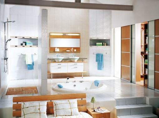 Bagno in comune con il salotto