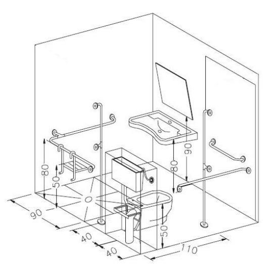 Box Doccia Disabili Dimensioni.Misure Dei Sanitari Sospesi Per Disabili E Quelli Salvaspazio