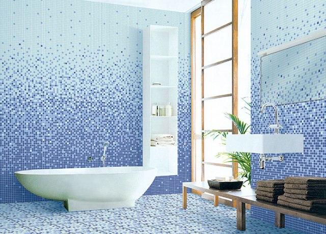 Bagno in mosaico colorato