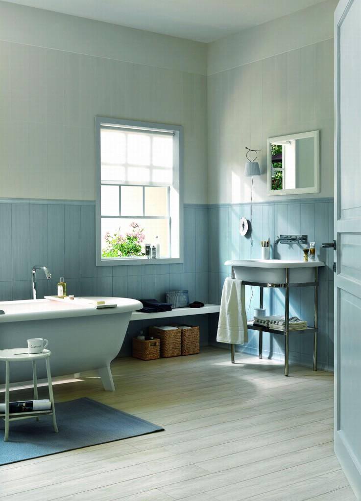 Rivestimento in legno per il bagno