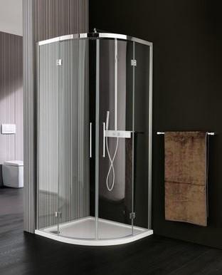 Box doccia trasparente ad angolo