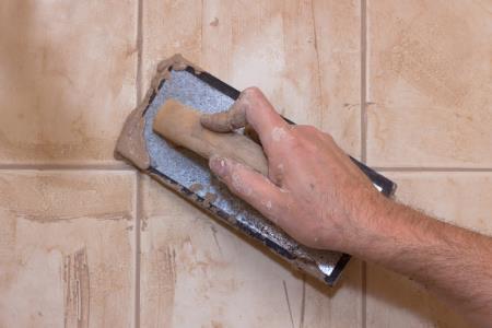 La stuccatura del bagno