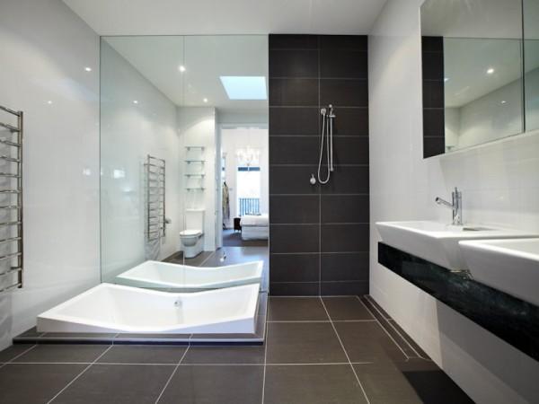 Un esempio di bagno moderno
