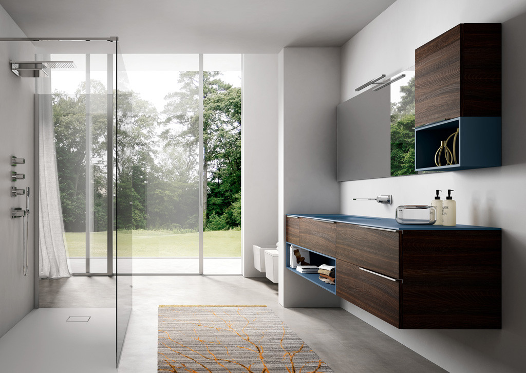 Progettazione di un bagno moderno